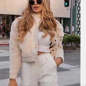Zara jacket with faux shearling